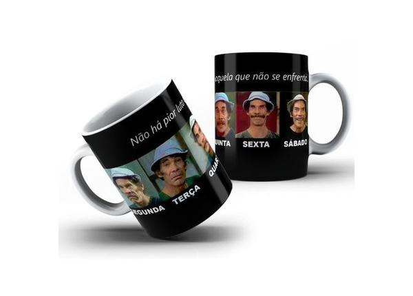 Caneca Chaves Series Porcelana 325ml #2365 Wntab Djdlf - Novo
