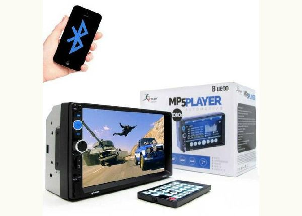 Dvd Player Carro Multimidia Bluetooth Touch Usb 2din Fm Top