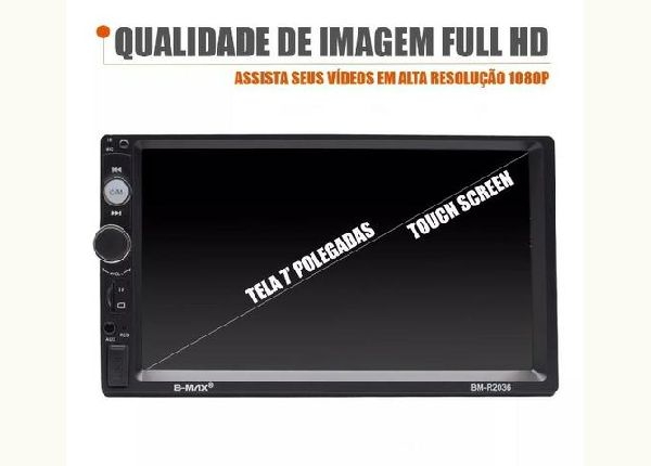 Central Multimidia 2din Mp5 Fm Usb Espelhamento Usb Android