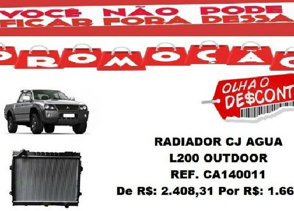 Radiador Cj Agua L200 Outdoor ( Original )